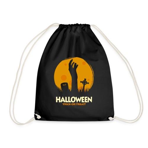 Halloween trick or treat t-shirt tee t shirt - Drawstring Bag