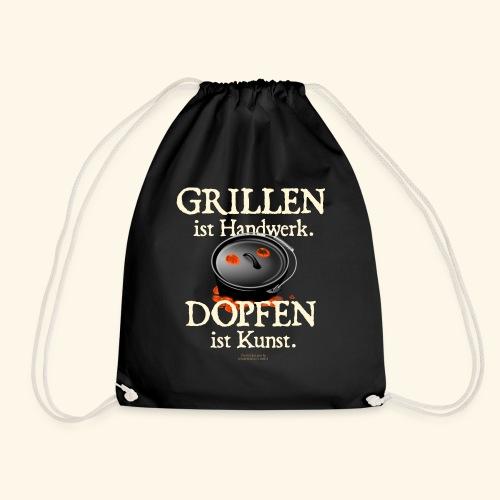 Grillen Handwerk, Dopfen Kunst Dutch Oven T-Shirt - Turnbeutel
