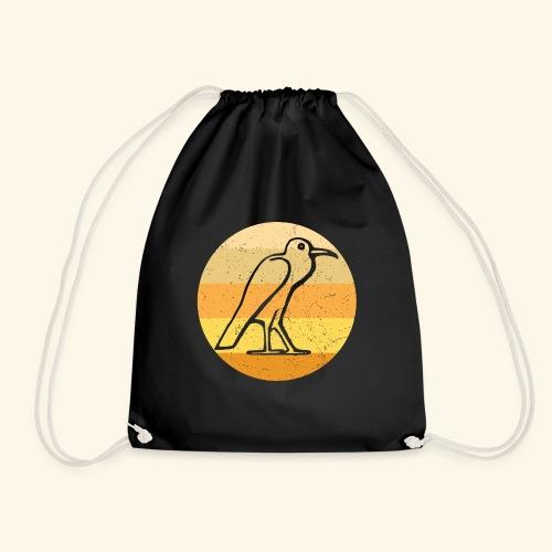 Egyptian Bird Retro - Drawstring Bag