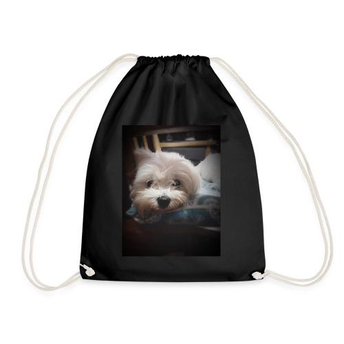 Pure White Pup - Drawstring Bag