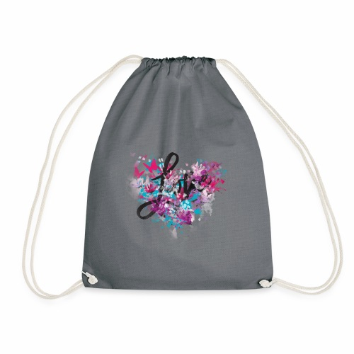 Love with Heart - Drawstring Bag