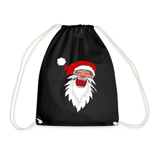 Lachender Nikolaus Santa Clause Weihnachten - Turnbeutel