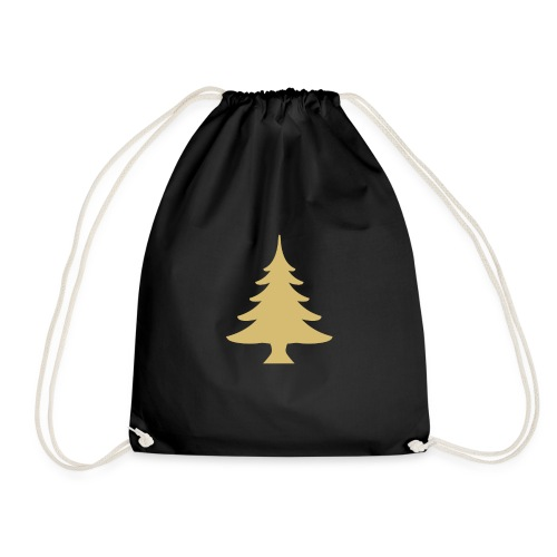 Weihnachtsbaum Christmas Tree Gold - Drawstring Bag