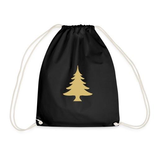 Weihnachtsbaum Christmas Tree Gold - Mochila saco