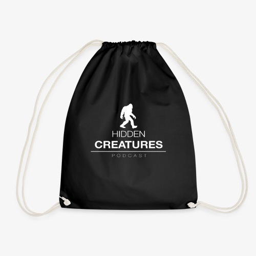 Hidden Creatures Logo White - Drawstring Bag