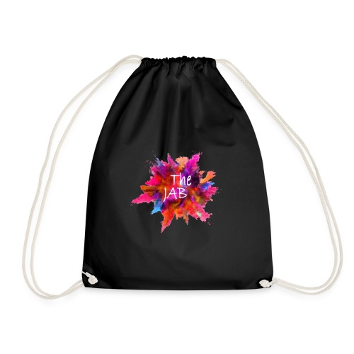The JAB Splash White - Drawstring Bag