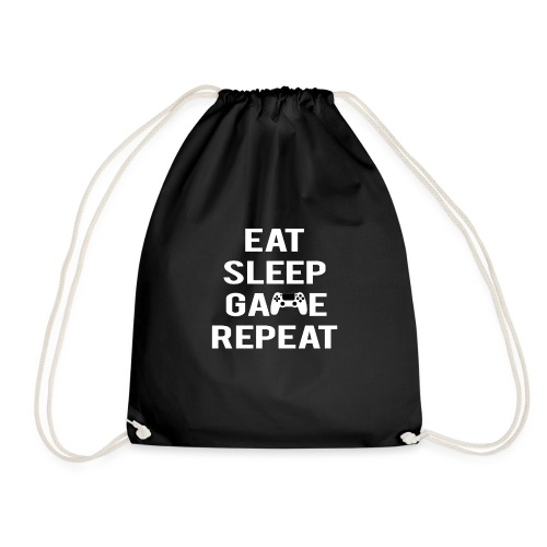 Eat, sleep, game, REPEAT - Drawstring Bag