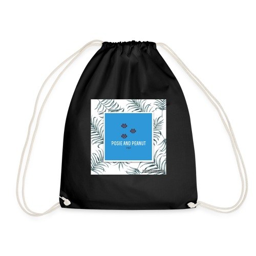 palm pooch design - Drawstring Bag