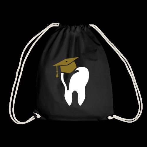 Zahn mit Doktorhut für Zahnarzt Zahnmedizin - Turnbeutel
