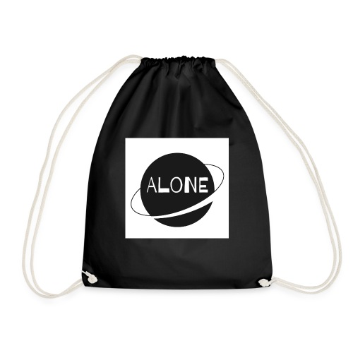 Alone planet white background - Drawstring Bag