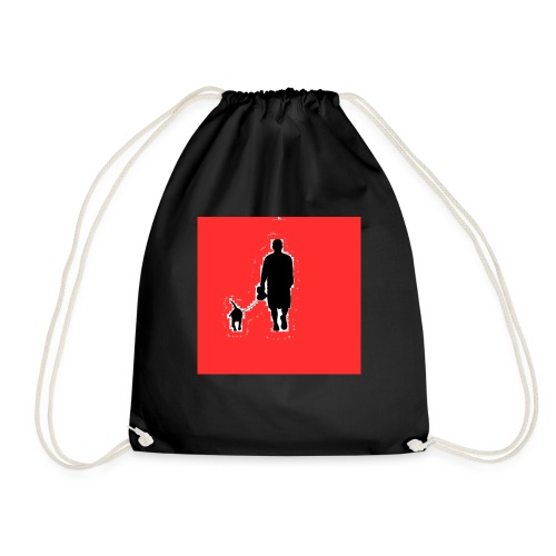 Silhouette Man Walking Dog - Sacca sportiva