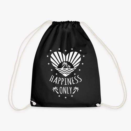 132 Happiness Only Herz Sonne Palmen - Turnbeutel