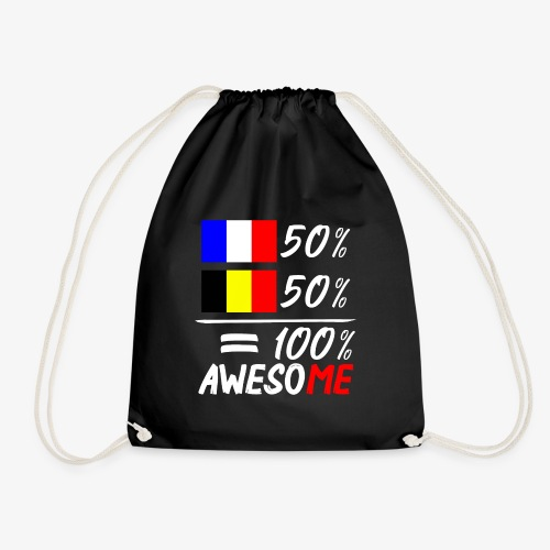 50% Frankreich 50% Belgien - Turnbeutel