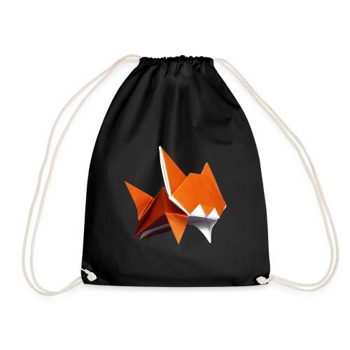 Jumping Cat Origami - Cat - Gato - Katze - Gatto - Drawstring Bag