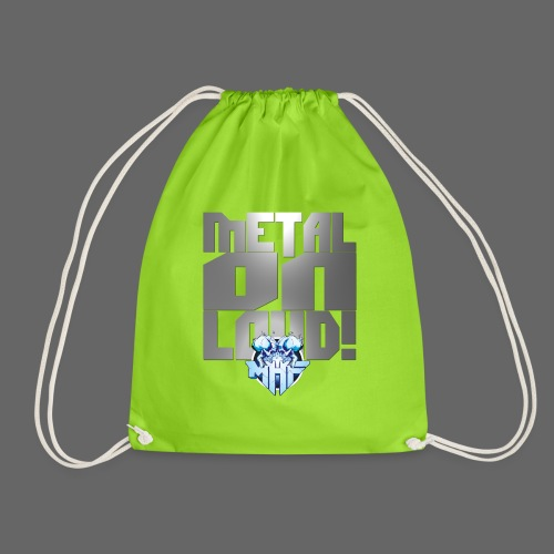 metalonloud large 4k png - Drawstring Bag