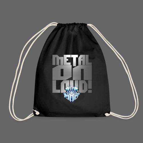 metalonloud large 4k png - Drawstring Bag