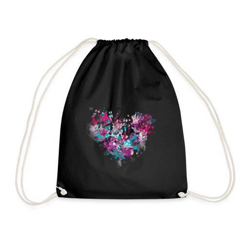 Colorful love - Drawstring Bag