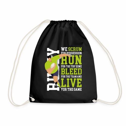 MarPlo Scrum Run Live whiteGreen - Sacca sportiva