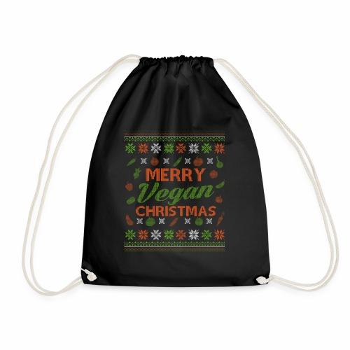 Merry Vegan Christmas Vegane Weihnachten - Turnbeutel