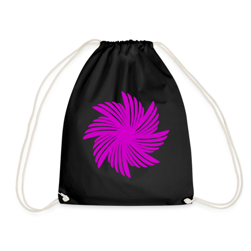 Flügelblume violett - Turnbeutel