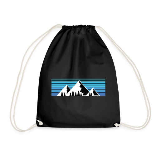 Berge im Sonnenaufgang Bergshirt & Natur Design - Turnbeutel