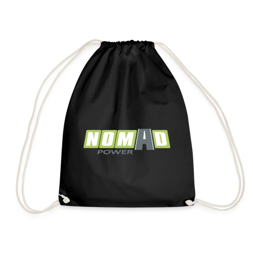 Nomadpower logo zonder wit - Gymtas