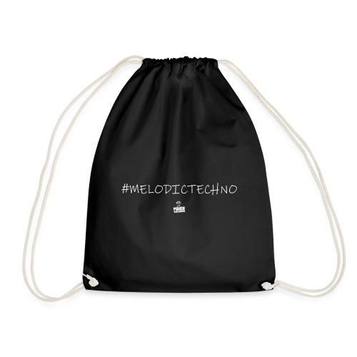 #melodictechno by Punch Underground (white) - Turnbeutel