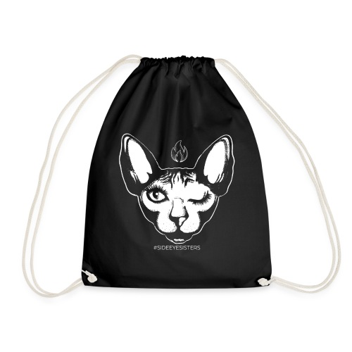 SIDE EYE SISTERS CAT - Drawstring Bag
