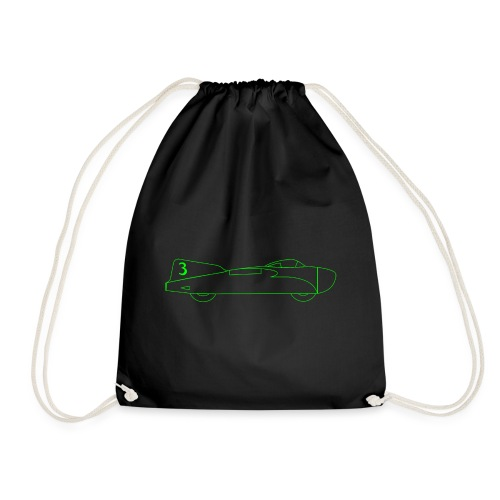 futuristic retro JET automobile - Drawstring Bag
