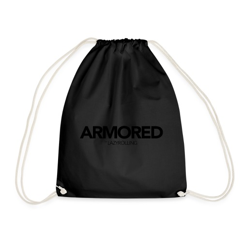 ARMORED BLACK LOGO - Drawstring Bag