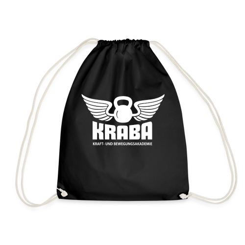 KRABA Logo weiß - Turnbeutel