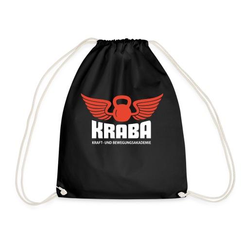 KRABA Logo rot/weiß - Turnbeutel