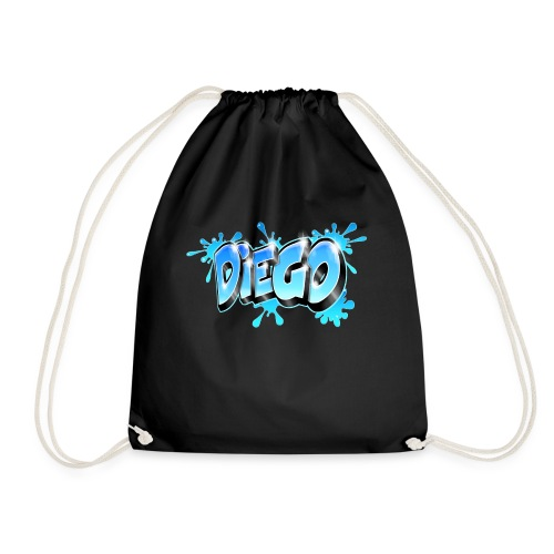 Graffiti prénom Diego - Drawstring Bag