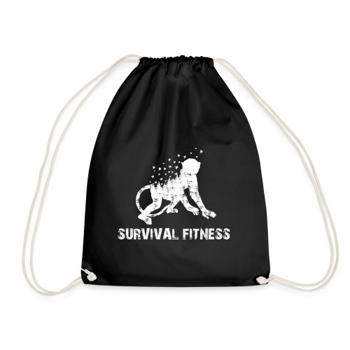 Survival Fitness Weiss - Turnbeutel