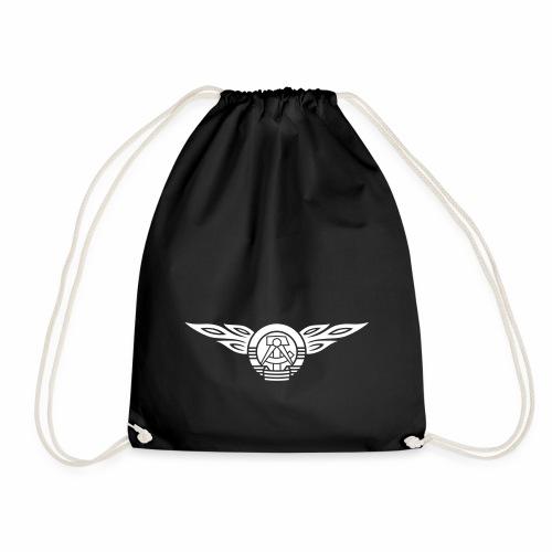 GDR flames crest 1c - Drawstring Bag