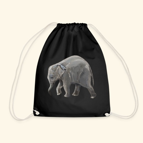 Baby elephant on a Mission - Drawstring Bag