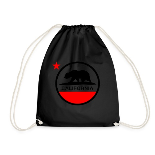 California Circle Flag - Drawstring Bag