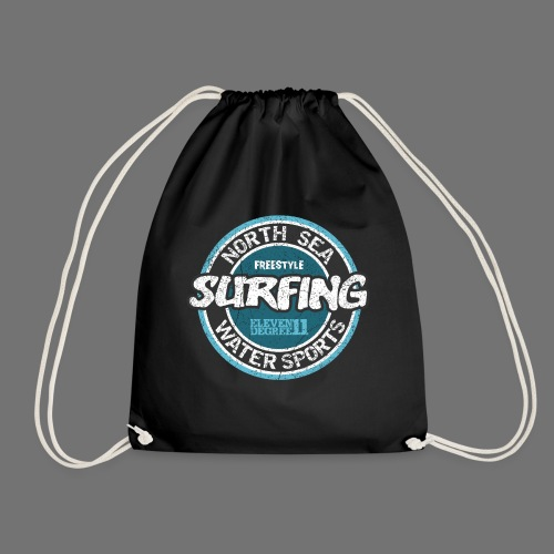 North Sea Surfing (oldstyle) - Drawstring Bag