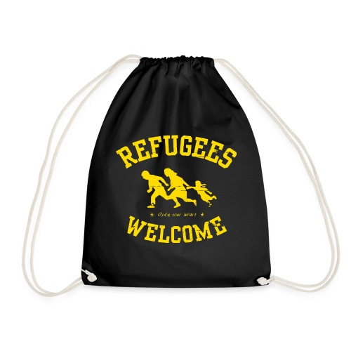 Refugees Welcome - Open your heart - Turnbeutel