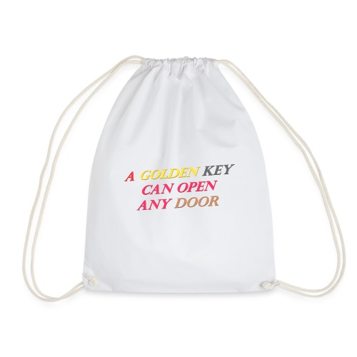 Say in English with 3D effect - Drawstring Bag
