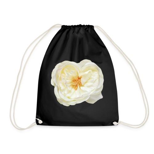 Weiße Rose (aus Stoff) - Turnbeutel