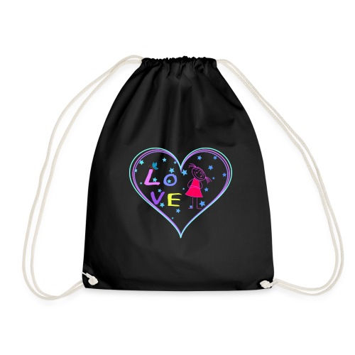 the heart of love - Drawstring Bag