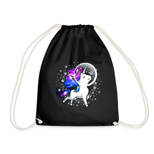 Einhorn Unicorn Astronaut Pony Weltraum Raumschiff - Turnbeutel