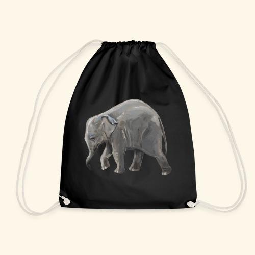 Baby elephant on a Mission - Drawstring Bag