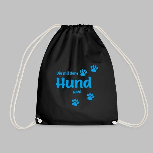 DIE MIT DEM HUND GEHT - BLUE EDITION - Turnbeutel