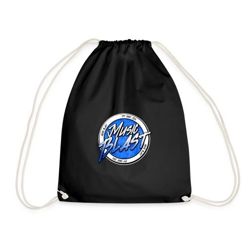 MusicBlast logo blu - Sacca sportiva