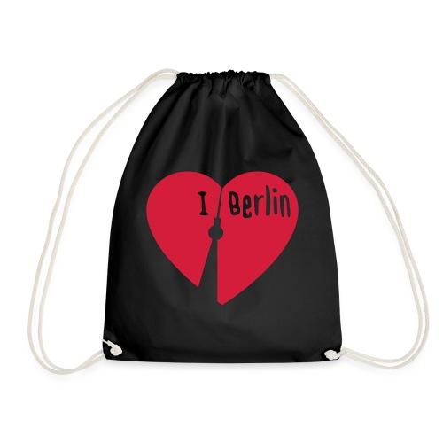 I love Berlin (1-farbig) - Turnbeutel