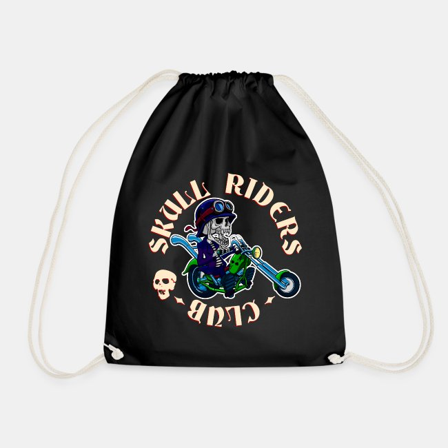riders skull club dark background 2