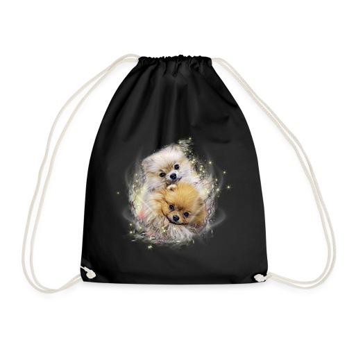 Pomeranian Shirt - Fluffypom Paar - Zwergspitz - Turnbeutel