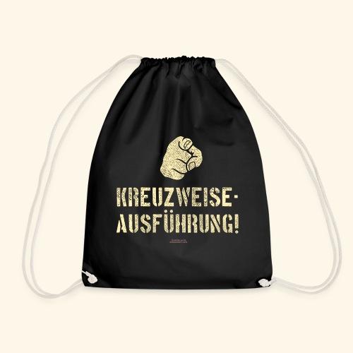 Lustiges Sprüche Design T Shirt Kreuzweise - Turnbeutel